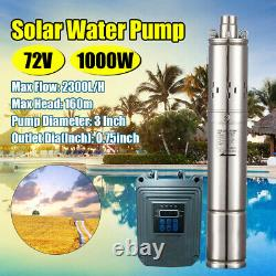 DC 72V Solar Submersible Water Pump Deep Well Complete Pump + MPPT control