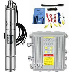 DC Deep Well Solar Water Pump 36V 400W Submersible 100AH Battery System Kit Bore