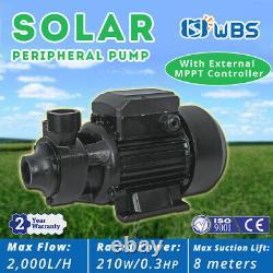 DC Solar Water Above-Ground Vortex Pump Surface Irrigation Farm Garden 210W 24V