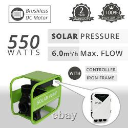 DC Solar Water Pressure Pump Surface Water Transfer 550W 6000L/H MPPT Controller