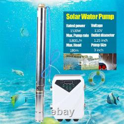 DC Solar Water Pump 24V /48V Submersible Deep Well Pump Garden Irrigation Kit US