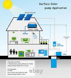 DC Solar Water Pump Surface Water Transfer 750W 21000L/H + MPPT Controller