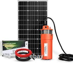 Deep Well Solar Panel Submersible Water Pump Battery Kit for Farm/Ranch/Breeding