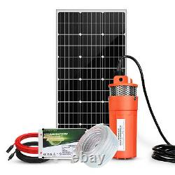 Deep Well Submersible Solar Water Pump Kit with Lithium Battery+Solar Panel Kit