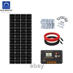 ECO 200W Solar Panel Kit for 12V Battery Charge&Controller Home RV Water Pump