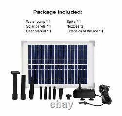ECO-WORTHY Solar Fountain Water Pump Kit 10 W, 160GPH+ 12 Watt Solar Panel Su