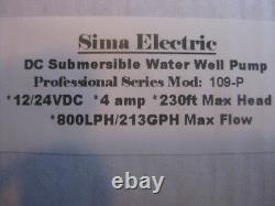 Farm & Ranch 12v/ 24v Solar DC Submersible Water Well Pump 200ft Lift / 800Lph