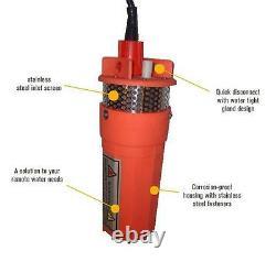 Farm & Ranch 12v/24v Solar DC Submersible Water Well Pump 200ft Lift / 800lph