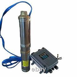 HSH-Flo 1HP 750W 48VDC 80m Head 792GPH 3 Solar Submersible Water Deep Well Pump
