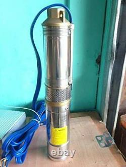HSH-Flo 750W DC48V 80m Head 3000LPH 3 Solar Submersible Water Deep Well Pump