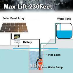 High Flow 3 Solar Deep Well Water Pump Kit / Battery System Solar Panel Kits
