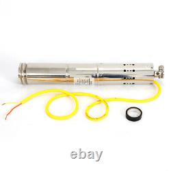 High Pressure Solar Powered Water Pump Submersible Borehole Deep Well 2m³/h 12V