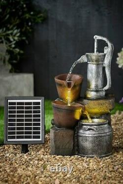 New Water Pump Solar Water Feature H 47.5/18.7 Flows Without Direct Sunlight