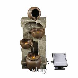 Peaktop Solar Power Water Fountain Garden Bronze Ornament Lights PT-SF0001