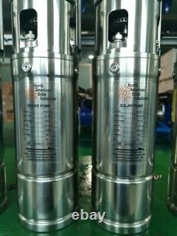SOLAR SUBMERSIBLE DC WATER DEEP WELL PUMP, direct from PV Panel or bat