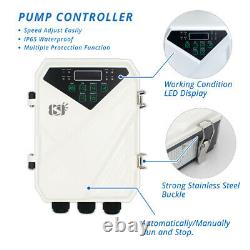 Solar DC 3 Water Well Bore Pump 48V 1HP Submersible MPPT Controller Brushless