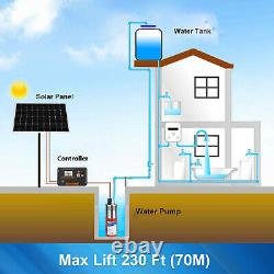 Solar Deep Water Well Pump Submersible for Irrigation Stainless Steel 12V
