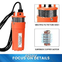 Solar Panel 12V Submersible Water Pump Kit & LiFePO4 Lithium Battery f Deep Well