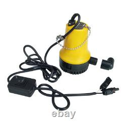 Solar Pond Submersible 12V Water Pump Kit with 100W Solar Panel Watering Washing