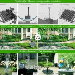 Solar Power Fountain 15W Brushless Water Pump Kit With Battery Remote Control