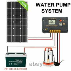 Solar Power Pond Water Pump with 100 Watt 100W 12V Solar Panel for Pisciculture