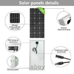 Solar Power Swimming Pool Heating Pump Kit 500W Water Pump +8100W Solar Panel
