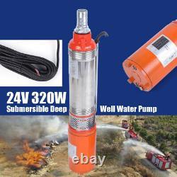 Solar Power Water Pump 24V 48V Farm Ranch DC Submersible Bore Hole Deep Well US