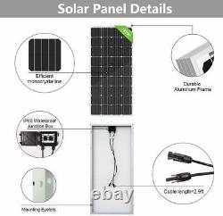 Solar Power Water Pump Farm Ranch Submersible Bore Deep Well+Solar Charger Panel