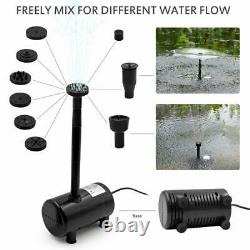Solar Power Water Pump Fountain Submersible With Filter Remote Pond Pool L