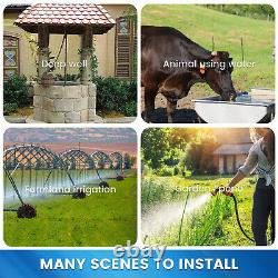 Solar Power Water Pump Kits 12V Deep Well Water Pump & 195W Solar Panel for Farm