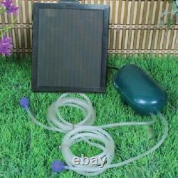 Solar Powered Water Garden Pond Air Pump 52GPH (200LPH) Pump withBattery Back up