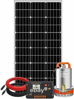 Solar Pump System Kits100W Solar Panel & 12V Pond Water Pump & 20A Controller