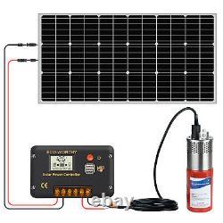 Solar Pump System Kits Submersible Steel Solar Bore Water Pump+100W Solar Panel