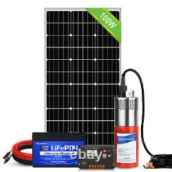 Solar Stainless Steel Water Pump Kits Deep Well Water Transfer Garden Irrigation