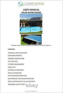 Solar Swimming Pool Hot Water Heating Mat 1.33m x 3m 20w Solar Panel & Pump