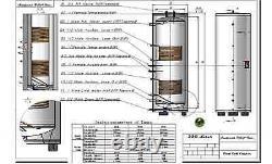Solar Water Heater 120 Gal System / Heat Dissipater Solar Collector Solar Pump