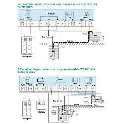 Solar Water Pump Deep Well Submersible Pump 3 DC MPPT Controller 24V 270W