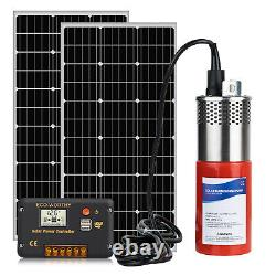 Solar Water Pump Kits Submersible Deep Well Water Pump & 2 100W Solar Panel
