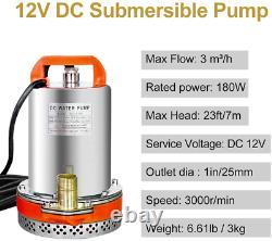 Solar Water Pump System Ki100W Solar Panel +12V Submersible Utility Pump Sewage
