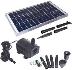 Solariver Solar Water Pump Kit 360+GPH Submersible Pump with Adjustable Flow