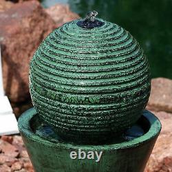 Sunnydaze Desert Spring Solar Outdoor Water Fountain with Battery 30 Feature