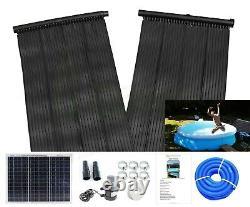Total Solar Swimming Pool Hot Water Heating Mat, 20w Solar Panel & Pump