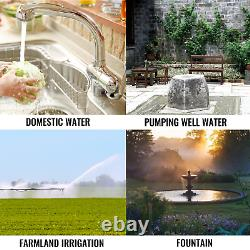 VEVOR 24V Solar Power Water Pump WithMTTP 3 Submersible Deep Well for Farm Ranch