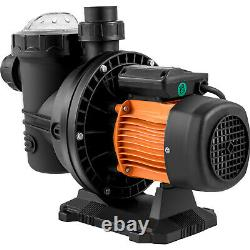 VEVOR Solar Pool Pump 72V DC Swimming Pool Pump 900W 62'/92GPM WithMPPT Controller