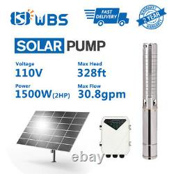 WBS 4 Solar Water Pump S/S Impeller 260Feet 31GPM Submersible DC Deep Bore Well